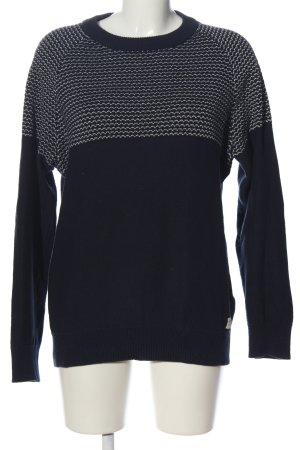 Selected Homme Rundhalspullover schwarz-weiß grafisches Muster Casual-Look