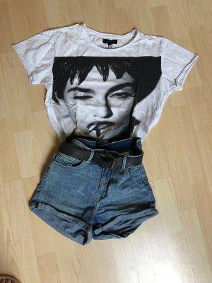 Selected Homme Shirt T-Shirt weiß Madonna Aufdruck