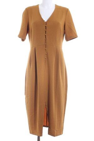 Selected Shortsleeve Dress dark yellow casual look