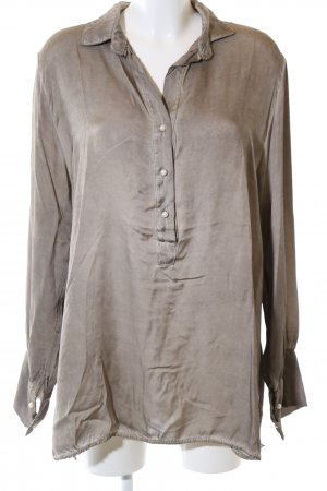 Selected Langarm-Bluse bronzefarben Casual-Look