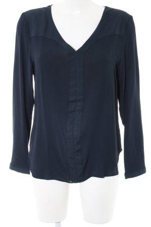 Selected Langarm-Bluse blau Business-Look