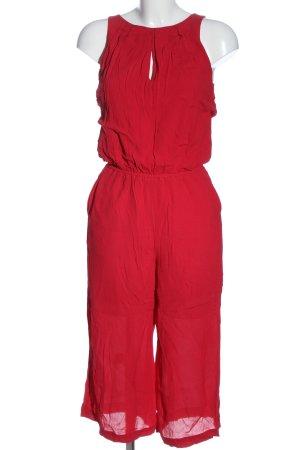 Selected Langer Jumpsuit rouge style décontracté