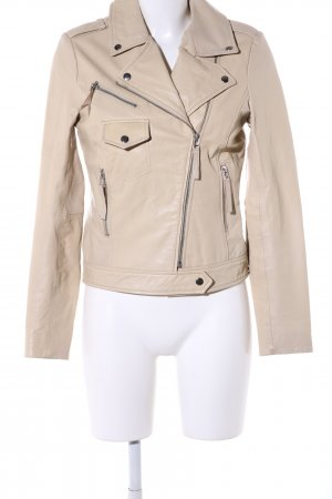 Selected Lederjacke creme Casual-Look