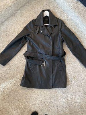 Selected Lederjacke in schwarz