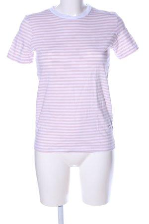 Selected Ringelshirt weiß-pink Streifenmuster Casual-Look