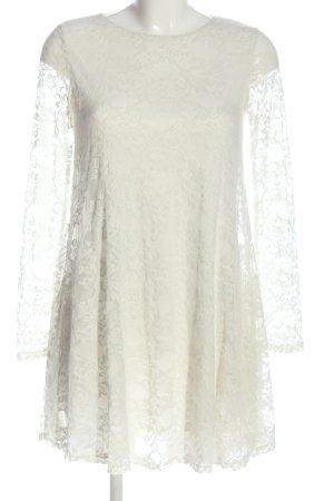 Selected Vestido de encaje blanco elegante