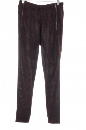 Selected Stoffhose bordeauxrot-schwarz meliert Casual-Look
