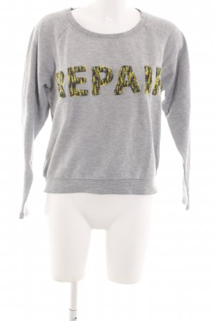 Selected Sweatshirt hellgrau meliert Casual-Look