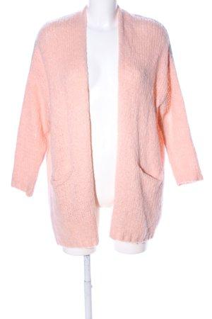 Selected Touch Cardigan a maglia grossa color carne punto treccia stile casual