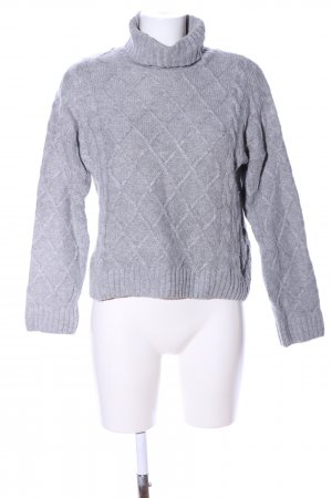 Selected Zopfpullover hellgrau meliert Casual-Look