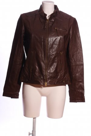 Selection by s.oliver Bikerjacke braun Casual-Look