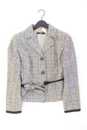 Selection by s.Oliver Blazer Größe 42 mit Gürtel grau aus Baumwolle