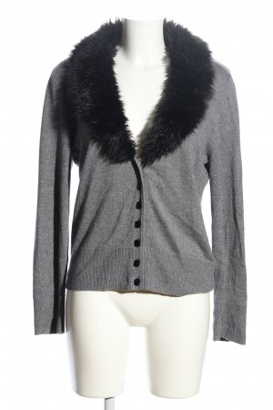 Selection by s.oliver Cardigan hellgrau-schwarz meliert Casual-Look