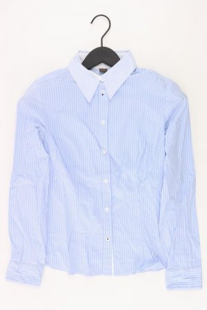 Selection by s.Oliver gestreifte Bluse Größe 36 Langarm blau aus Baumwolle
