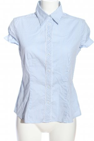 Selection by s.oliver Hemd-Bluse blau-weiß Allover-Druck Business-Look