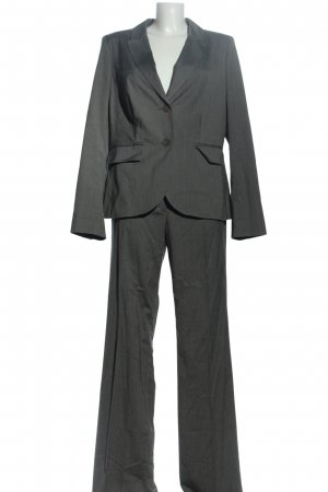 Selection by s.oliver Trouser Suit light grey flecked business style