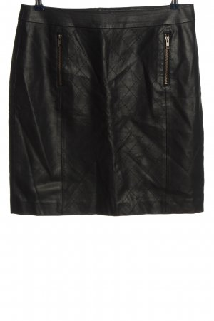 Selection by s.oliver Faux Leather Skirt black quilting pattern casual look