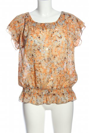 Selection by s.oliver Kurzarm-Bluse hellorange-hellgrau Allover-Druck