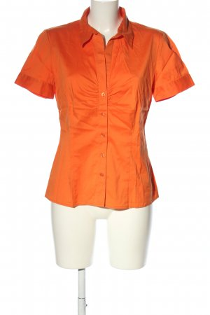 Selection by s.oliver Kurzarm-Bluse hellorange Business-Look