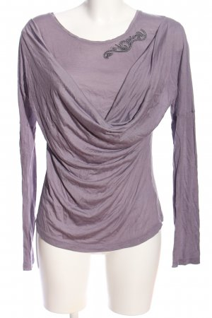 Selection by s.oliver Langarm-Bluse lila Casual-Look