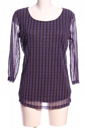 Selection by s.oliver Langarm-Bluse lila-schwarz Allover-Druck Casual-Look