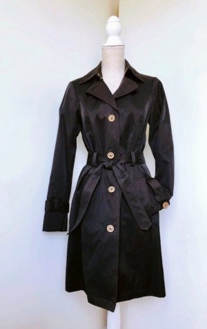 Selection by s.Oliver langer Mantel Trenchcoat Schwarz Knöpfe Luxus Blogger