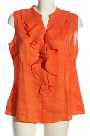 Selection by s.oliver Blusa de lino naranja claro look casual