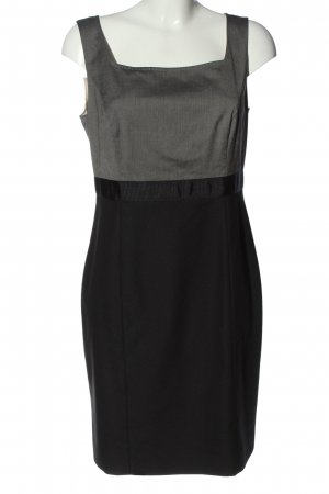 Selection by s.oliver Minikleid hellgrau-schwarz Webmuster Casual-Look