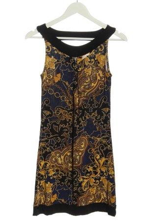 Selection by s.oliver Minikleid blau-blassgelb abstraktes Muster Elegant