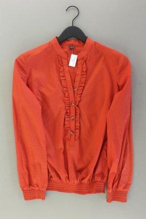 Selection by s.Oliver Rüschenbluse Größe 36 Langarm orange aus Baumwolle