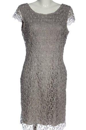 Selection by s.oliver Spitzenkleid hellgrau abstraktes Muster Elegant