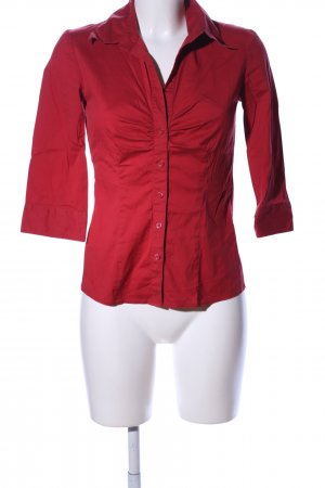 Selection by s.oliver Stehkragenbluse rot Business-Look