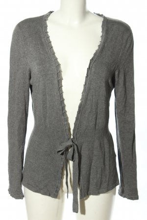 Selection by s.oliver Strick Cardigan silberfarben Motivdruck Casual-Look