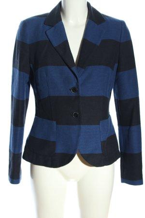 Selection by s.oliver Strickblazer blau-schwarz Streifenmuster Casual-Look