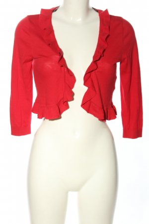 Selection by s.oliver Gebreide bolero rood casual uitstraling