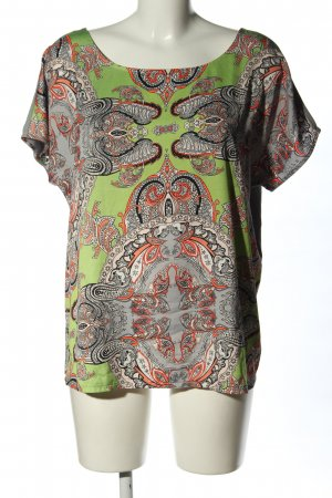 Selection by s.oliver T-Shirt hellgrau-grün abstraktes Muster Casual-Look