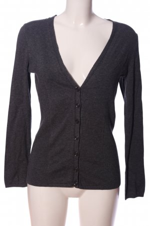 Selection by s.oliver V-Ausschnitt-Pullover hellgrau meliert Casual-Look