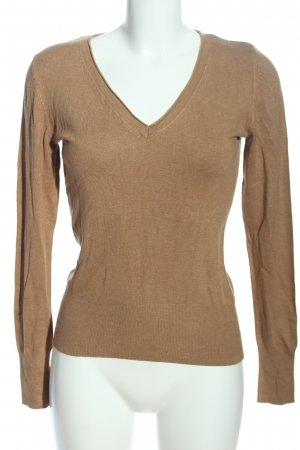 Selection by s.oliver V-Ausschnitt-Pullover braun Casual-Look