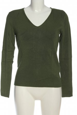 Selection by s.oliver V-Ausschnitt-Pullover khaki Casual-Look