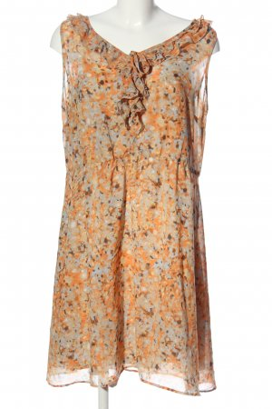Selection by s.oliver Volantkleid hellgrau-hellorange Allover-Druck Casual-Look
