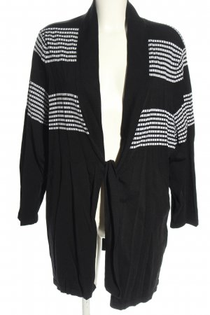 Selection by Ulla Popken Cardigan schwarz-weiß Streifenmuster Casual-Look