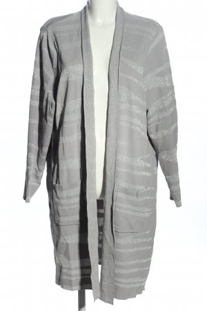 Selection by Ulla Popken Cardigan hellgrau-silberfarben meliert Casual-Look