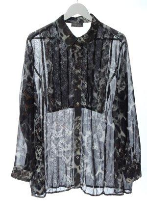 Selection by Ulla Popken Blusa-camisa azul-gris claro look casual