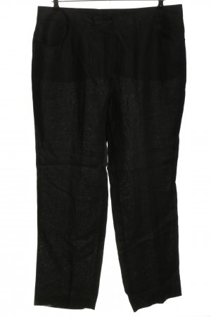 Selection by Ulla Popken Leinenhose schwarz meliert Casual-Look