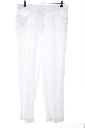 Selection by Ulla Popken Pantalone di lino bianco stile casual