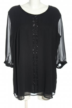 Selection by Ulla Popken Long-Bluse schwarz Casual-Look