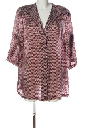 Selection by Ulla Popken Blusa de seda marrón-blanco puro look casual