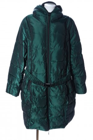 Selection by Ulla Popken Quilted Coat green quilting pattern casual look