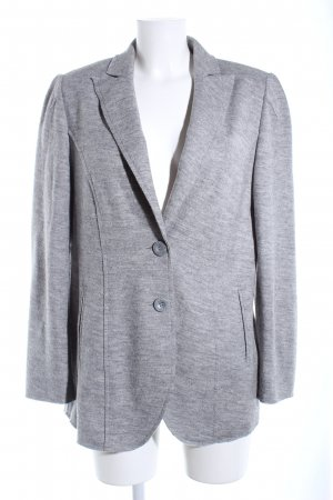 Selection by Ulla Popken Wolljacke hellgrau meliert Casual-Look
