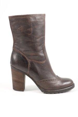 Selection Korte laarzen bruin zakelijke stijl